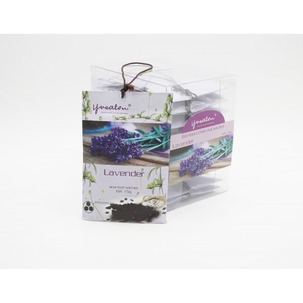 Bamboo Charcoal Sachet - Lavender (15g x 10 pcs)