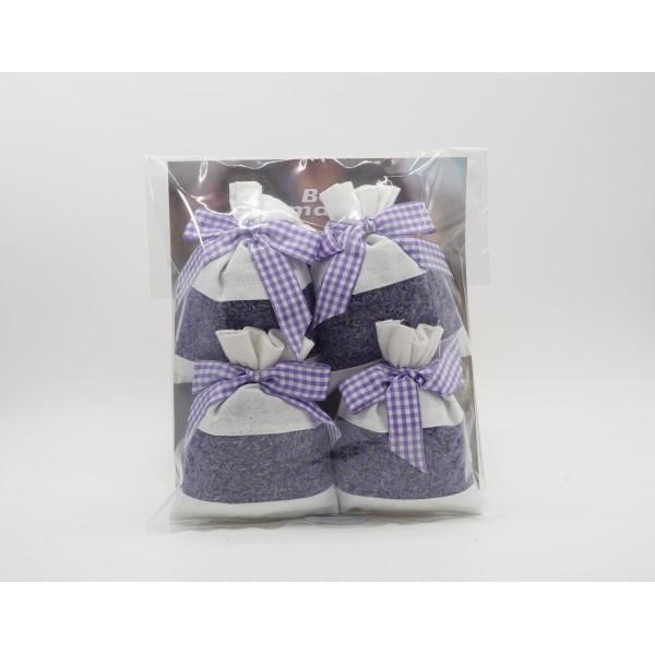 Lavender Dried Flower 4 Sachet Package