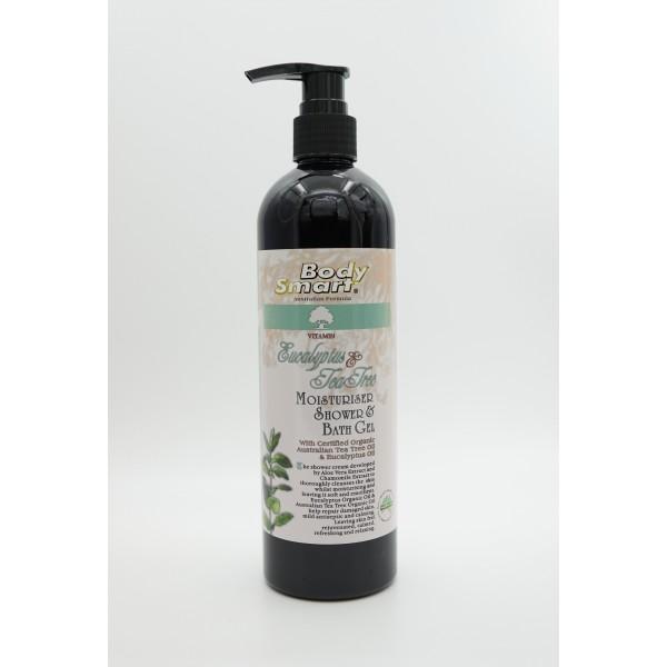 Body Smart – Eucalyptus & Tea Tree Organic Moisturiser Shower Cream     360ml