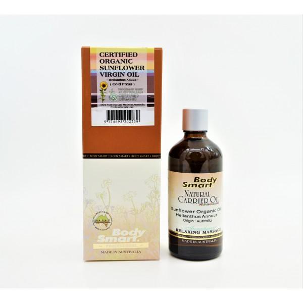 Body Smart – Sunflower Oil Virgin (Certified Organic)  ( Helianthus Anuus – Cold Pressed )   100ml