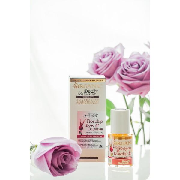 Body Smart – Rosehip & Rose  Certified Organic Face Care Oil      30 ml